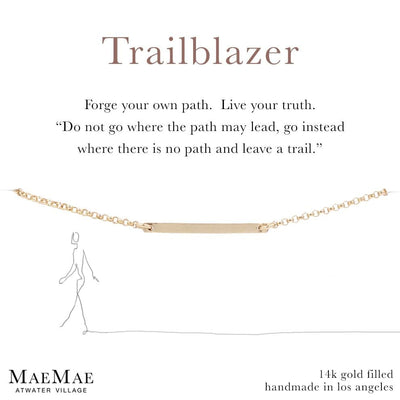 Trailblazer Horizontal Necklace | 14k Gold Filled jewelry | 14k Gold Filled Necklace |