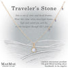 Moonstone Traveler's Stone Gold Necklace on Display Affirmation Card