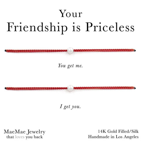 Your Friendship is Priceless 2-Set Bracelets (Assorted Colors)