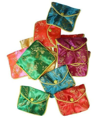 Chinese silk pouches