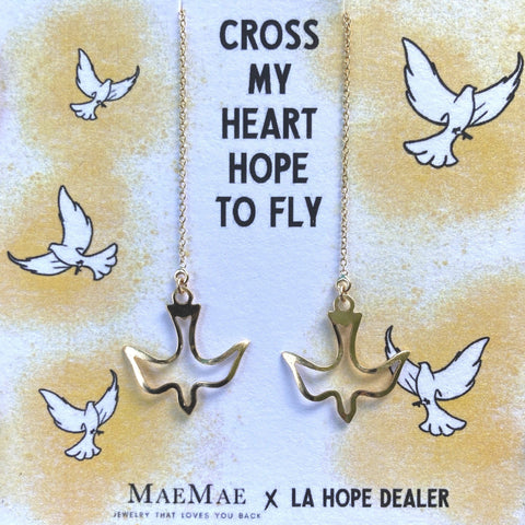 Dove Threader Earrings Collab with the LA Hope Dealer (Limited Edition)