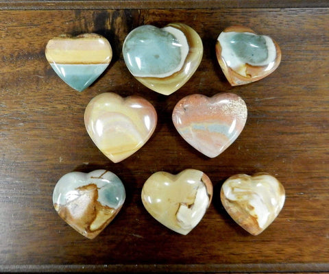 Natural Stone Heart Crystals (Variety of Crystals)