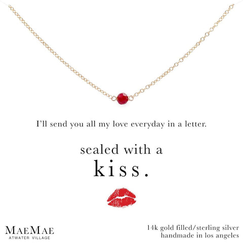 Red Swarovski Stone Necklace for Love
