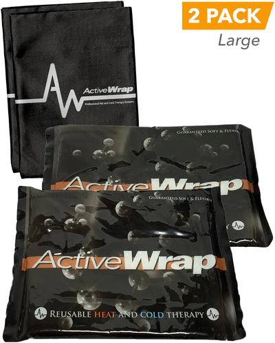 ActiveWrap Reusable Heat/Ice Pack Large, 2 Pack