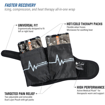 ActiveWrap Wrist Hand Heat/Ice Compression Therapy Wrap