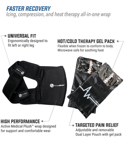 ActiveWrap Knee Heat/Ice Compression Therapy Wrap