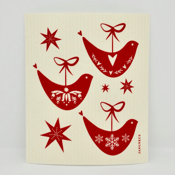 Holiday Birds Dishcloth