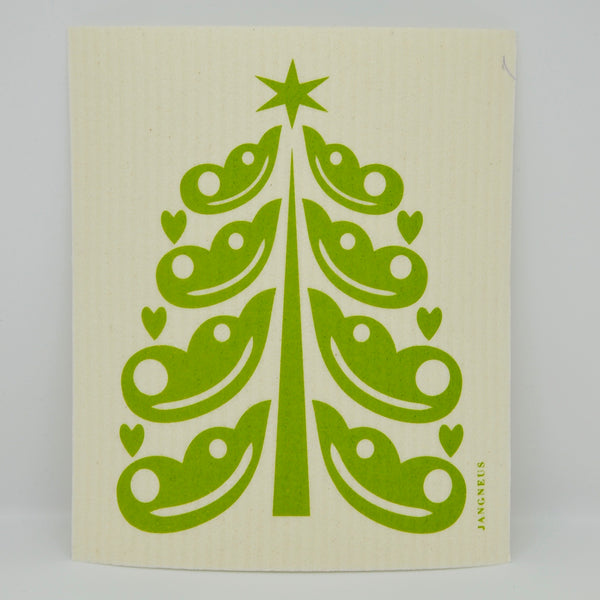 Decorated Christmas Tree Dishcloth