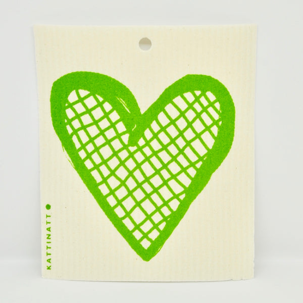 Heart Outline Lattice Dishcloth