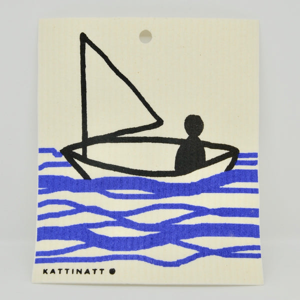Sail Boat on Water Dishcloth