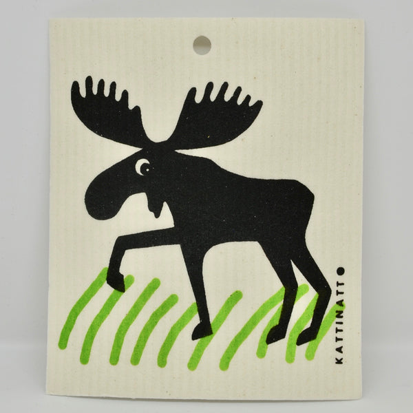 Moose in Grass Dishcloth
