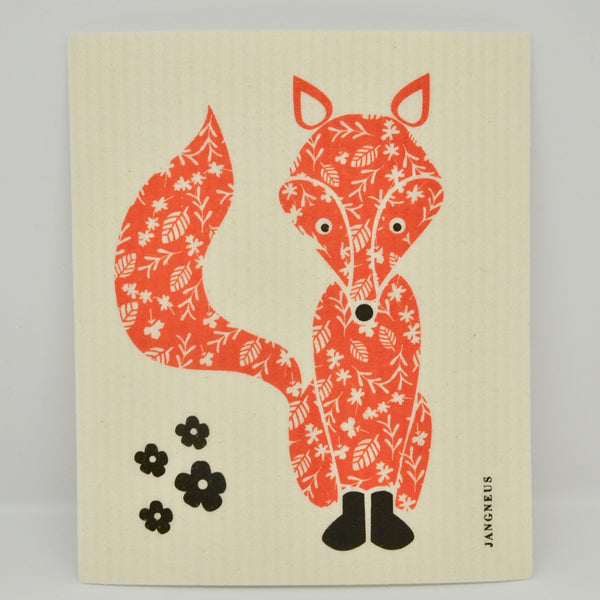 Orange Fox Dishcloth