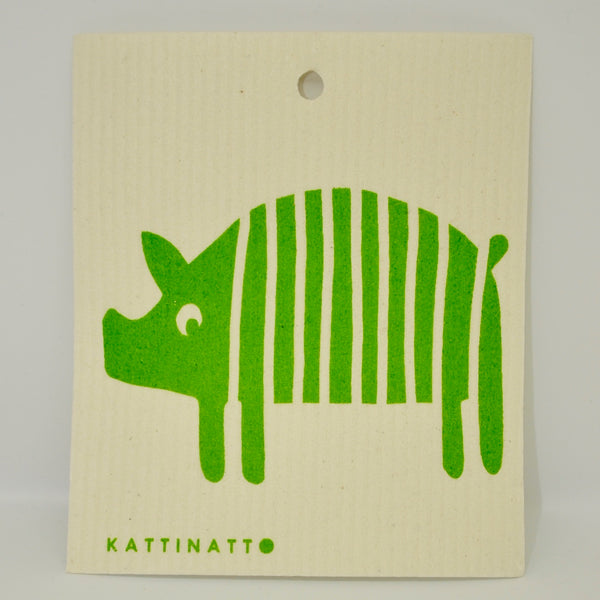 Striped Pig Dishcloth