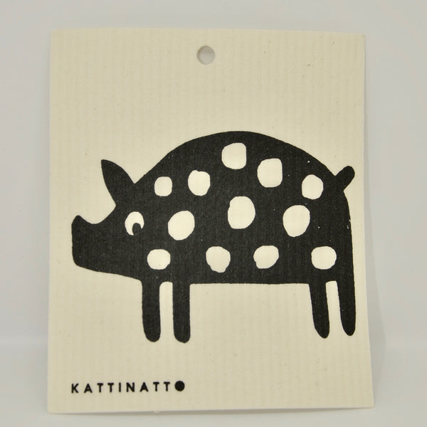 Polka Dot Pig Dishcloth