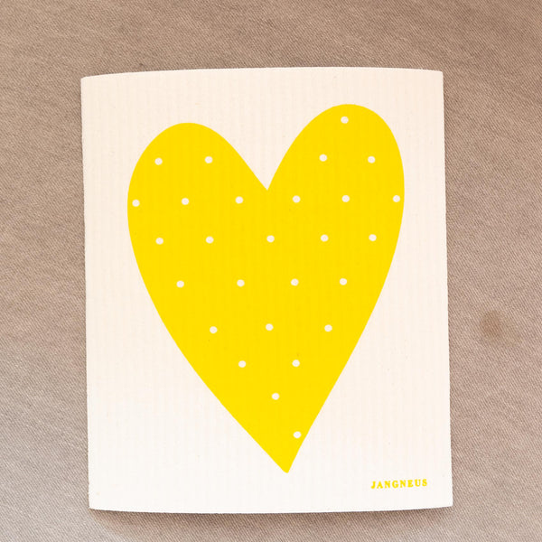 Polka Dot Heart Dishcloth