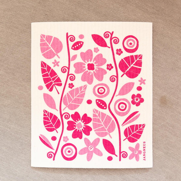 Pink Flower Dishcloth