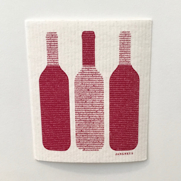 Wine Bottles Dishcloth