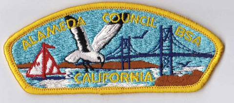 Alameda Council California Yellow Border Cloth Backing BSA CSP ## CSP104