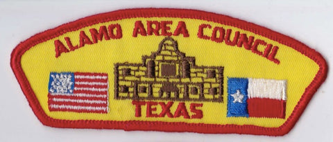 Alamo Area Council Texas Red Border Cloth Backing Pre-FDL CSP ## CSP106