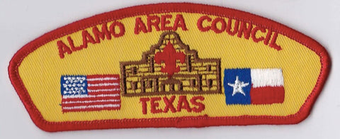 Alamo Area Council Texas Red Border Plastic Backing FDL CSP ## CSP107