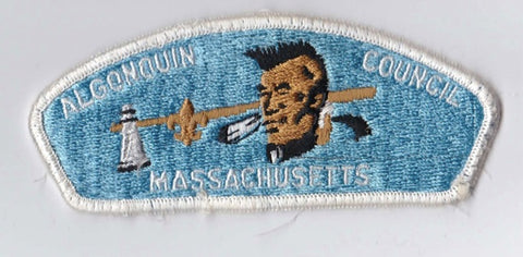 Algonquin Council Massachusetts White Border Sewn Cloth Backing Pre-FDL CSP ## CSP114