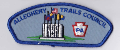 Allegheny Trails Council Pennsylvania Blue Border Cloth Backing Pre-FDL CSP ## CSP119