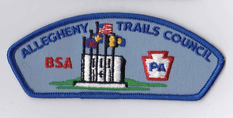 Allegheny Trails Council Pennsylvania Blue Border Plastic Backing BSA CSP ## CSP120