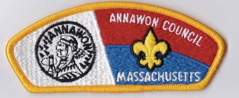 Annawon Council Massachusetts Yellow Border Plastic Backing FDL CSP ## CSP127