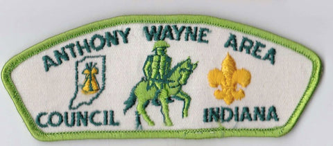 Anthony Wayne Area Council Indiana Green Border Plastic Backing FDL CSP ## CSP128