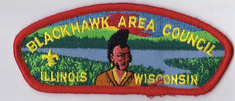 Blackhawk Area Council Illinois & Wisconsin Red Border Plastic Backing FDL CSP ## CSP171