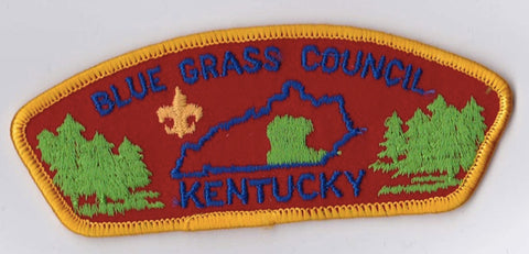 Blue Grass Council Kentucky Yellow Border Plastic Backing FDL CSP ## CSP173