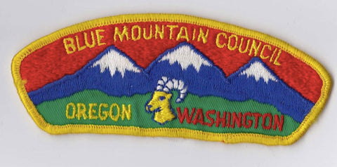 Blue Mountain Council Oregon & Washington Yellow Border Cloth Backing Pre-FDL CSP ## CSP179