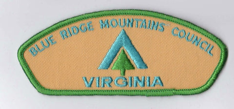 Blue Ridge Mountains Council Virginia Green Border Cloth Backing Pre-FDL CSP ## CSP188