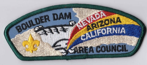 Boulder Dam Area Council Nevada, Arizona, and California Green Border Plastic Backing FDL CSP ## CSP199