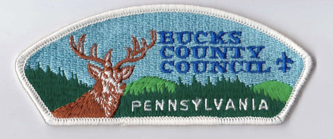 Bucks County Council Pennsylvania White Border Plastic Backing FDL CSP ## CSP207