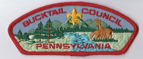 Bucktail Council Pennsylvania Red Border Plastic Backing FDL CSP ## CSP213