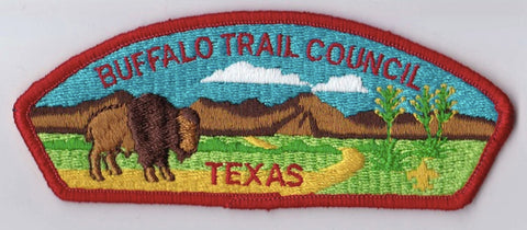 Buffalo Trail Council Texas Red Border Plastic Backing FDL CSP ## CSP219