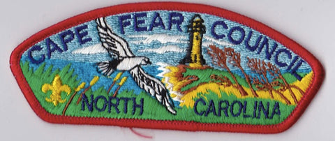 Cape Fear Council North Carolina Red Border Plastic Backing FDL CSP ## CSP241