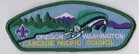Cascade Pacific Council Oregon & Washington Green Border Scout Stuff Backing FDL CSP ## CSP247