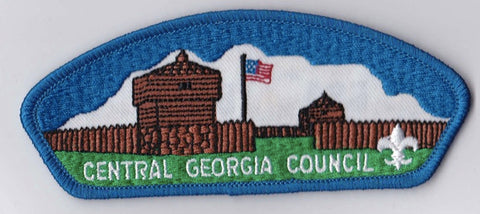 Central Georgia Council Georgia Blue Border BSA Backing FDL CSP ## CSP263