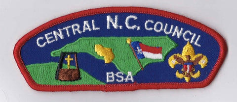 Central N.C. Council North Carolina Red Border Plastic Backing BSA CSP ## CSP275