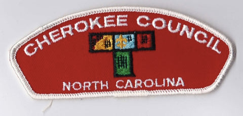 Cherokee Council North Carolina White Border Cloth Backing Pre-FDL CSP ## CSP293