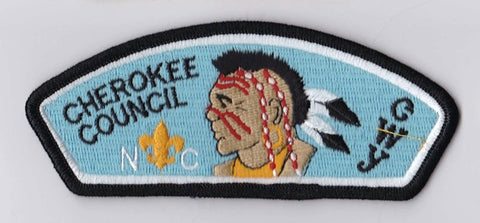 Cherokee Council North Carolina Black Border Plastic Backing FDL CSP ## CSP298
