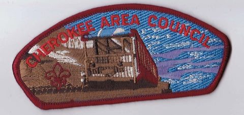 Cherokee Area Council  Red Border Plastic Backing FDL CSP ## CSP303