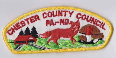 Chester County Council PA & MD Yellow Border Plastic Backing FDL CSP ## CSP307