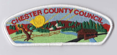 Chester County Council PA & MD White Border Plastic Backing FDL CSP ## CSP310