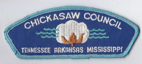 Chicksaw Council TN/AR/MS Light Blue Border Cloth Backing Pre-FDL CSP ## CSP318