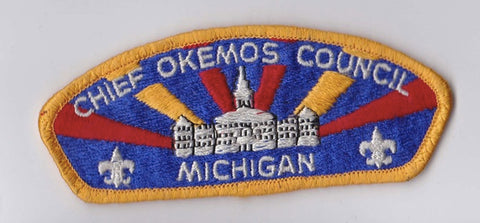 Chief Okemos Council Michigan Yellow Border Paper Backing FDL CSP ## CSP329