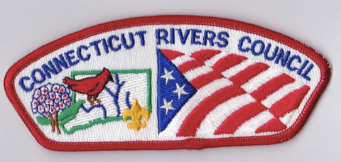 Connecticut Rivers Council Connecticut Red Border Plastic Backing FDL CSP ## CSP379