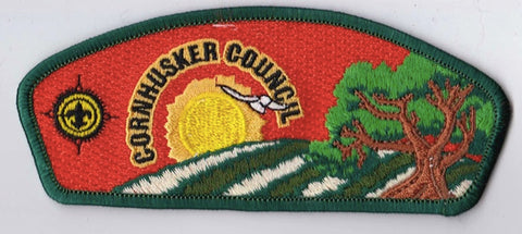 Cornhusker Council Nebraska Green Border Plastic Backing FDL CSP ## CSP390